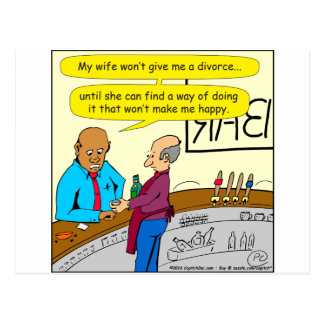 853 divorce makes me happy cartoon postcard