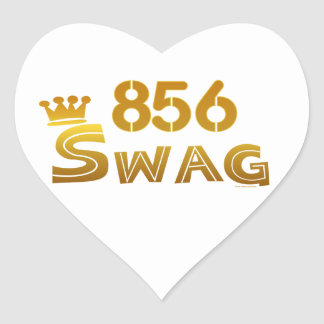 856 New Jersey Swag Heart Sticker