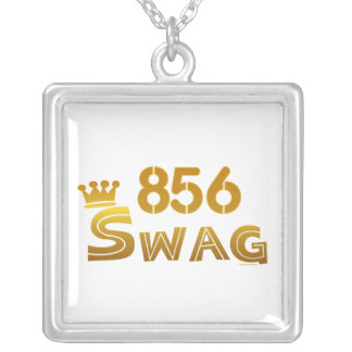 856 New Jersey Swag Square Pendant Necklace