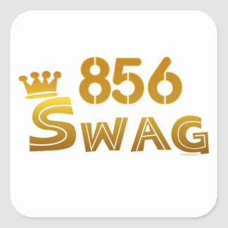 856 New Jersey Swag Square Sticker