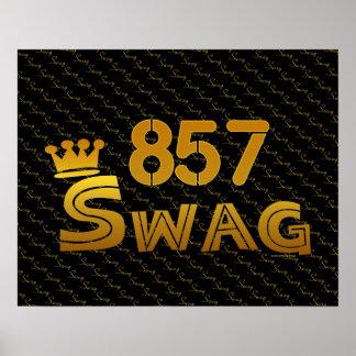 857 Area Code Swag Print