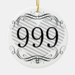 858 Area Code Christmas Tree Ornament