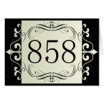858 Area Code Greeting Card