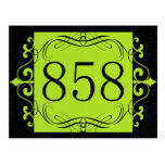 858 Area Code Post Cards