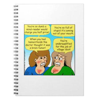 858 hermanas enojadas que discuten el dibujo libretas espirales