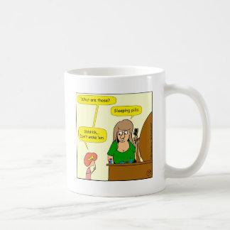 859 sleeping pills cartoon coffee mug