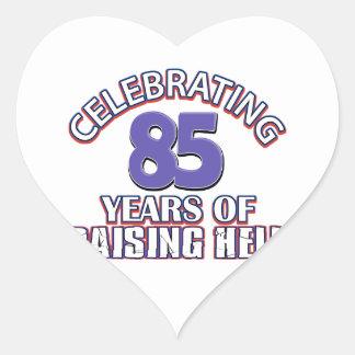 85 años de infierno de aumento pegatina en forma de corazón