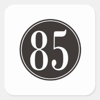 #85 Black Circle Square Sticker