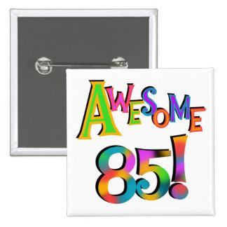 85 camisetas y regalos impresionantes del cumpleañ pin cuadrado