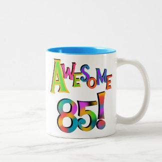 85 camisetas y regalos impresionantes del cumpleañ taza dos tonos