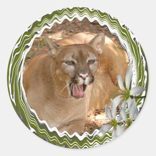 85 cougar-st-patricks-0054 pegatina redonda
