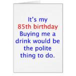 85 me compran una bebida tarjetas