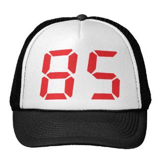 85 número digital del despertador de ochenta y cin gorro de camionero