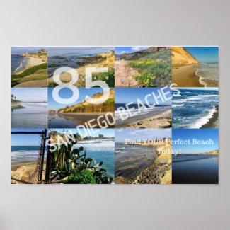 85 San Diego Beaches Poster
