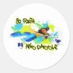 85.Urban kayak4 Etiquetas Redondas