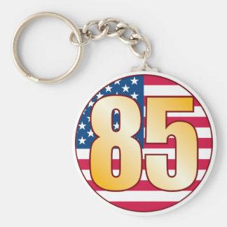 85 USA Gold Basic Round Button Keychain