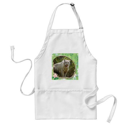 85-white-tiger-st-patricks-0063 adult apron