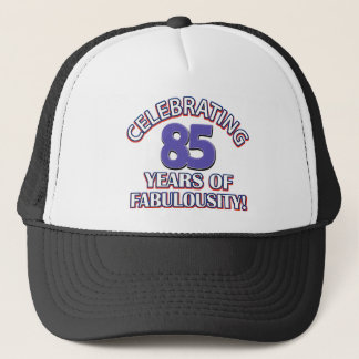 85 years design trucker hat