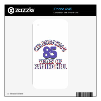 85 years of raising hell skin for iPhone 4S