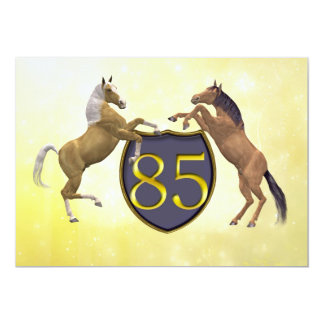 85 years old birthday party rearing horses card