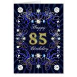 85a tarjeta de cumpleaños con las masas de joyas