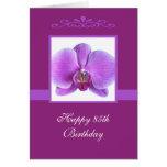 85a tarjeta de cumpleaños de la orquídea