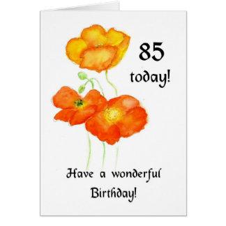 85a tarjeta de cumpleaños de las amapolas islandes