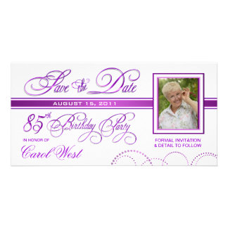 85o cumpleaños - ahorre la invitación de la foto tarjeta fotográfica personalizada