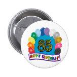 85o cumpleaños feliz con los globos pins