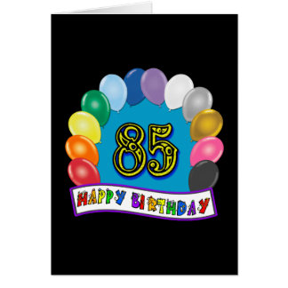 85o cumpleaños feliz con los globos felicitacion