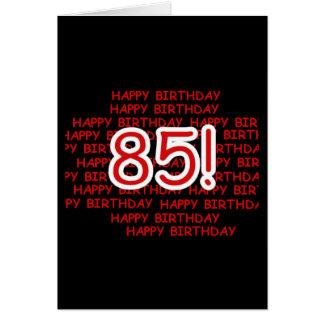 85o cumpleaños feliz tarjeta de felicitación