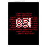 85o cumpleaños feliz tarjetón