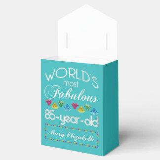 85o Cumpleaños la mayoría de la turquesa colorida Cajas Para Detalles De Boda