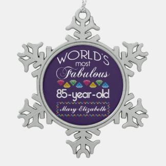 85o Cumpleaños la mayoría de las gemas coloridas Adornos