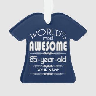 85o Del cumpleaños de los mundos azul marino