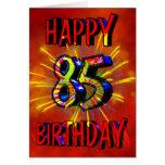 85o Fuegos artificiales del cumpleaños Tarjeton