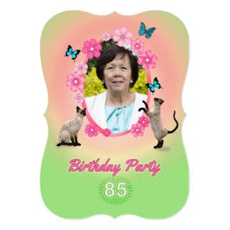 85o Invitación de la fiesta de cumpleaños