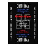 85o Invitación de la fiesta de cumpleaños - 85
