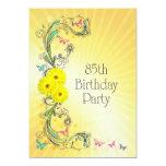 85o Invitación de la fiesta de cumpleaños con las Invitación 12,7 X 17,8 Cm