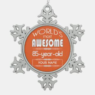 85o Naranja fabuloso de la llama de los mundos del Adornos