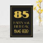 "[ Thumbnail: 85th Birthday – Art Deco Inspired Look ""85"" & Name Card ]"