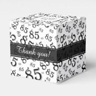 85th Birthday Black White Collage Pattern Favor Box