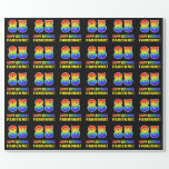 [ Thumbnail: 85th Birthday: Bold, Fun, Simple, Rainbow 85 Wrapping Paper ]