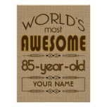 85th Birthday Celebration World Best Fabulous Posters