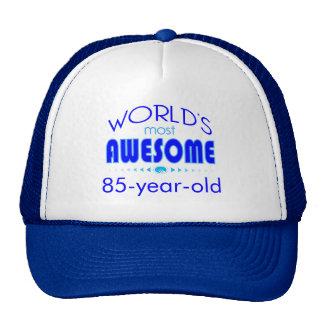 85th Birthday Celebration World's Best in Blue Trucker Hat