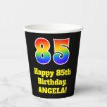 [ Thumbnail: 85th Birthday: Colorful, Fun, Exciting, Rainbow 85 ]