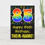 [ Thumbnail: 85th Birthday: Colorful Music Symbols + Rainbow 85 Card ]