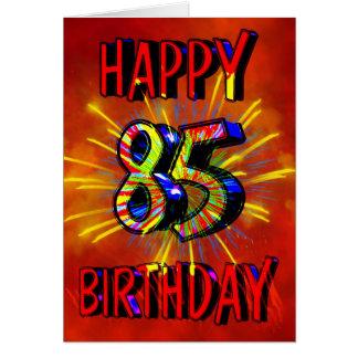 85th Birthday Fireworks Greeting Card