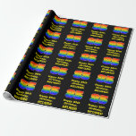 [ Thumbnail: 85th Birthday: Fun, Colorful Rainbow Inspired # 85 Wrapping Paper ]