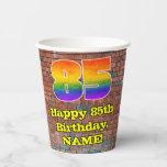 [ Thumbnail: 85th Birthday: Fun Graffiti-Inspired Rainbow 85 ]
